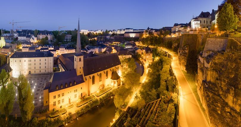 Luxembourg Grund Dusk